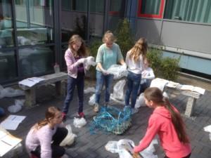 Müllauswertung in der Schule