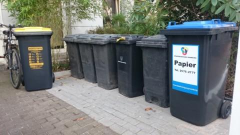 Unser Müll wird recycelt.