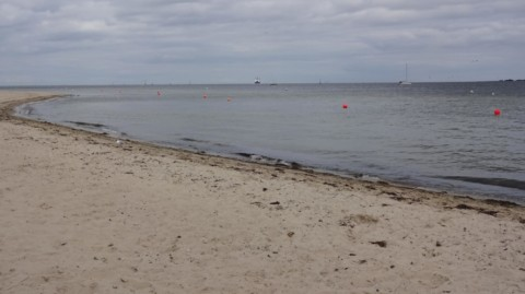 Die 7a der HBS am Falckensteiner Strand in Kiel